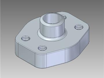   Controflange a saldare di testa tubo metrico foro cilindrico